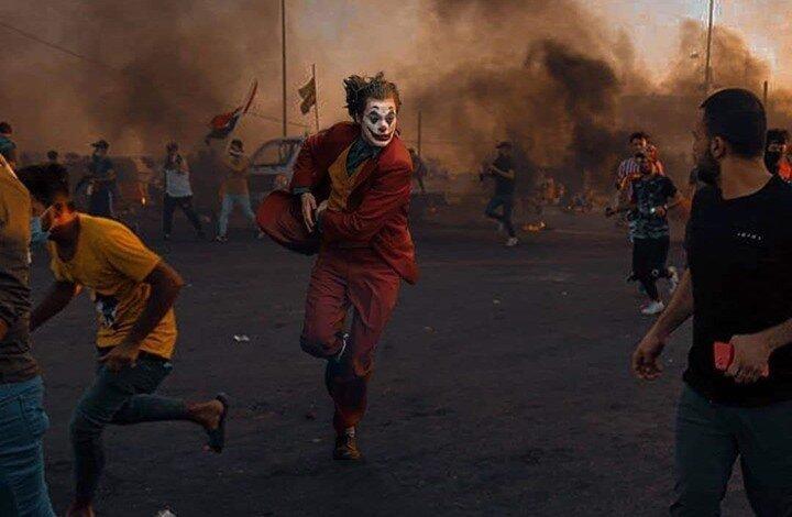 جوکر و بتمن در میانه آشوب بغداد ، طراح گرافیک عراقی از سینما الهام می گیرد