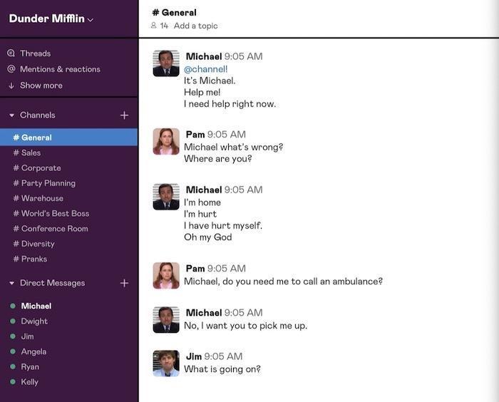 یک کار بامزه: بازسازی سریال آفیس در اپلیکیشن اسلک!