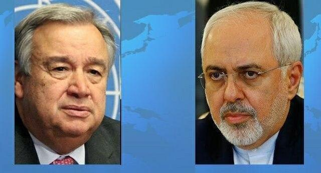 دومین گفت وگوی تلفنی ظریف و دبیرکل سازمان ملل متحد طی 24 ساعت گذشته