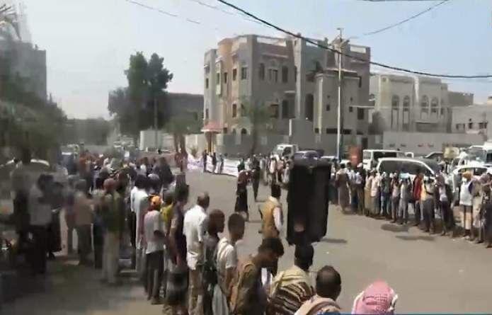 خبرنگاران برگزاری تجمع اعتراضی در الحدیده علیه توقیف کشتی های سوخت