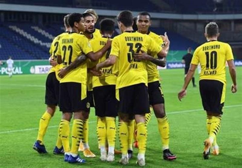 جام حذفی آلمان، دورتموند با جشنواره گل به دور دوم صعود کرد