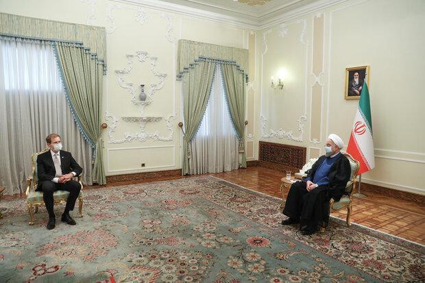 روحانی: زمینه های فراوانی برای گسترش همکاری های ایران و نروژ وجود دارد