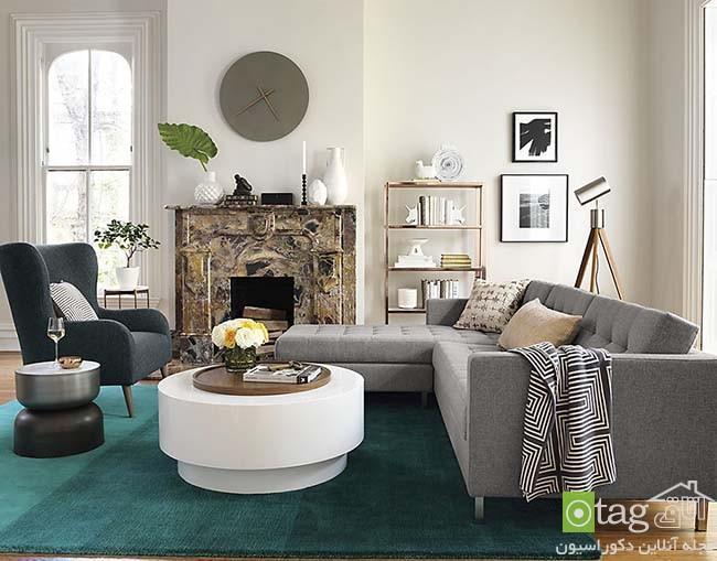 مدل های شیک قالیچه با طرح های فانتزی و مدرن مناسب اتاق نشیمن