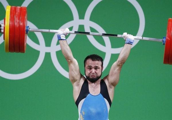 محرومیت موقت قهرمان وزنه برداری المپیک