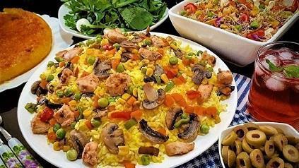 طرز تهیه پلو مرغ و قارچ ترکیه ای با طعم بی نظیر